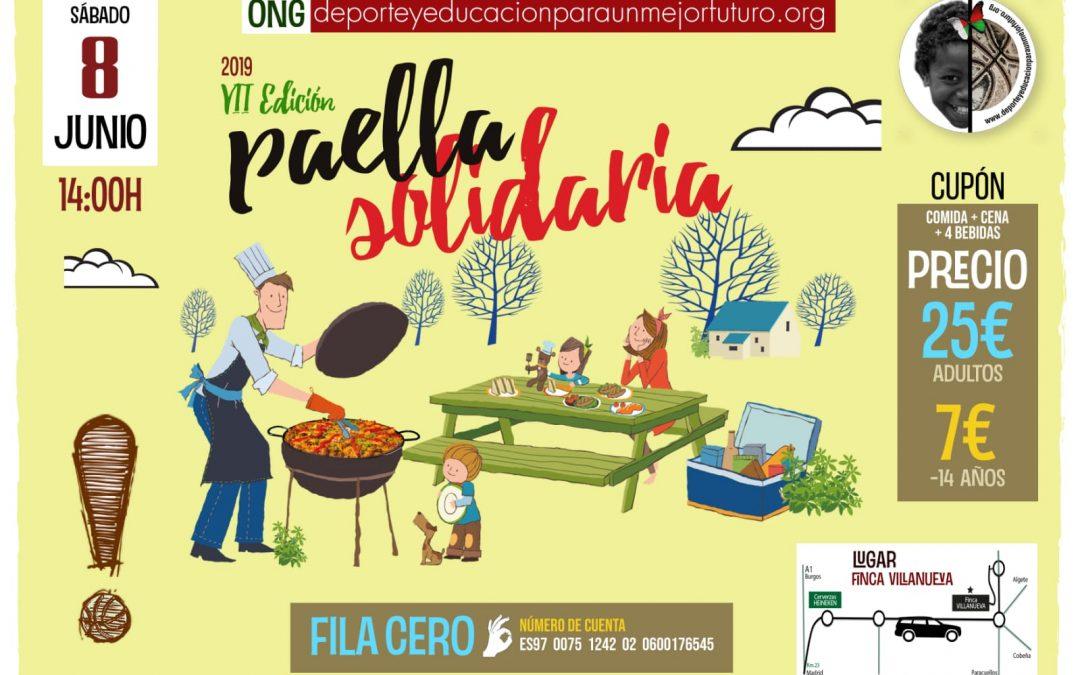 PAELLA SOLIDARIA – 8 de junio de 2019