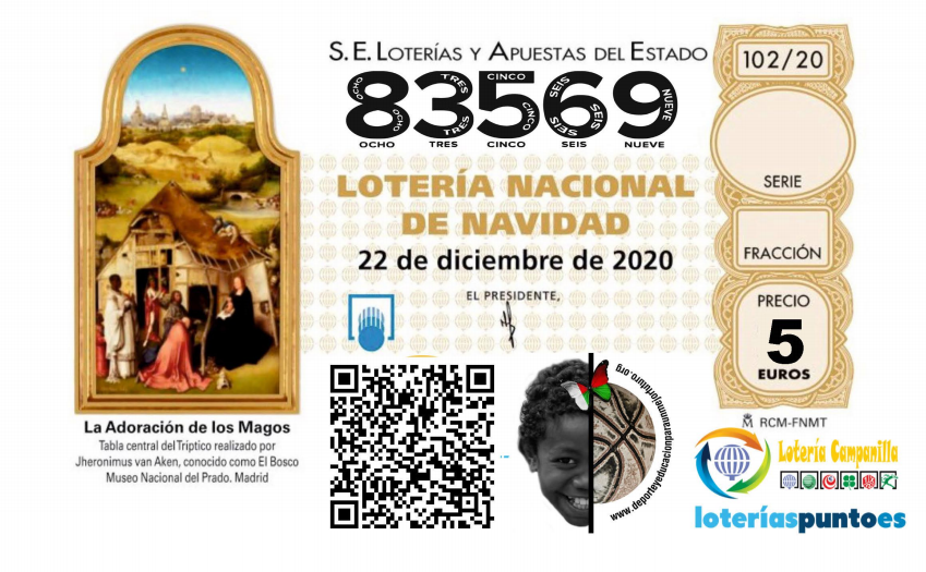 Lotería de Navidad 2020 de la ONG